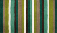 Jazz Stripes Green Rug