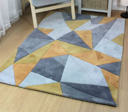 Infinite Acute Grey Ochre Rug