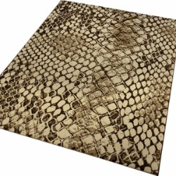 African Safari Snake 0722-03 Beige Brown Rug