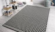 Capri Spot Black Cream Rug