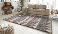 Allure Triangle Grey Rose Rug
