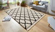 Desire Pearl Cream Dark Brown Rug