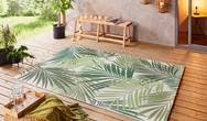 Beach Vai Green Cream Rug
