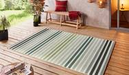 Beach Paros Green Multi Rug