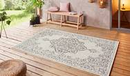 Beach Tilos Cream Grey Anthracite Rug