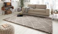 Allure Hash Beige Cream Rug