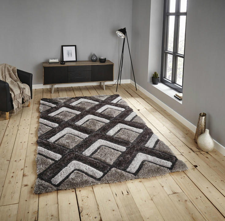 Shaggy - Noble House 8199 Silver Rug