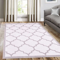 Trendy White with Border Rug