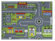 Roads Road Map Rug