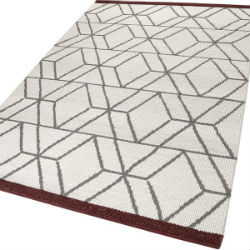 Fall in Love Hexagon 7703-01 Wool White Rug
