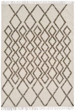 Hackney Kelims Diamond taupe Rug