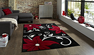 Verona OC15 Black - Red Rug