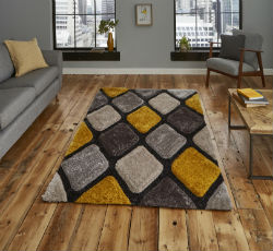 Noble House 9247 Grey Yellow Rug