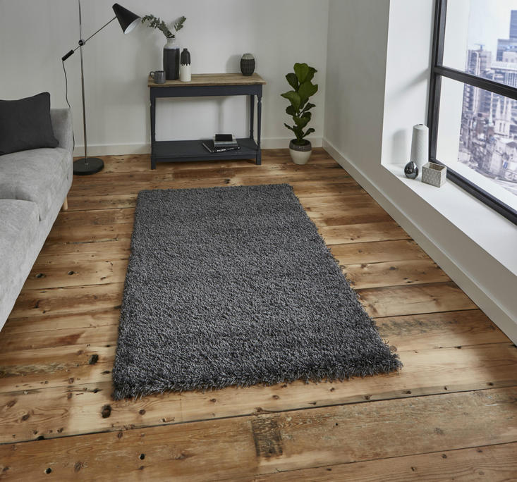 Vista - Plain 2236 Dark Grey Rug