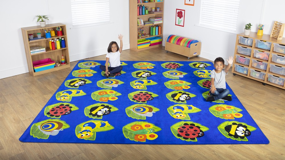 Placement Rugs Back to Nature™ Square Bug  Rug