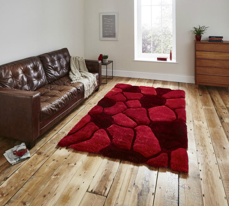 Nobel House Pebbles 5858 Red Rug