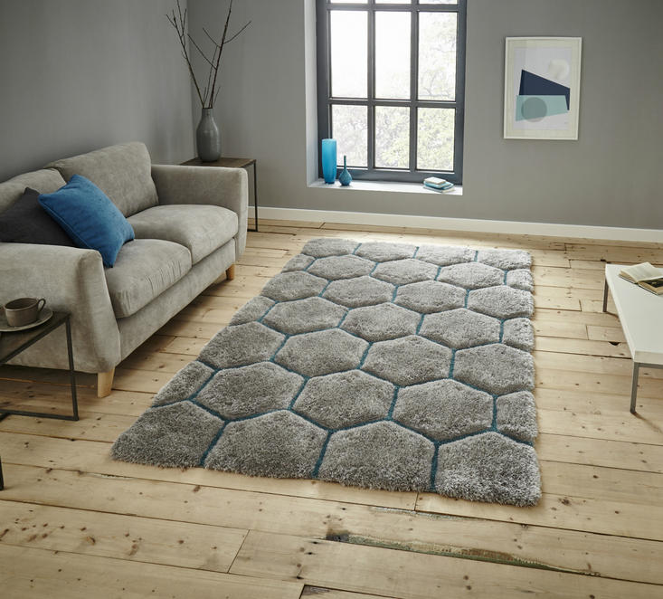 Nobel House 30782 Grey Blue Rug