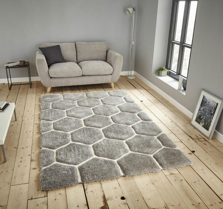 Nobel House 30782 Grey White Rug