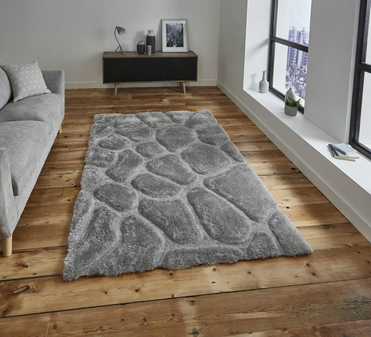 Nobel House Pebbles 5858 Silver Rug