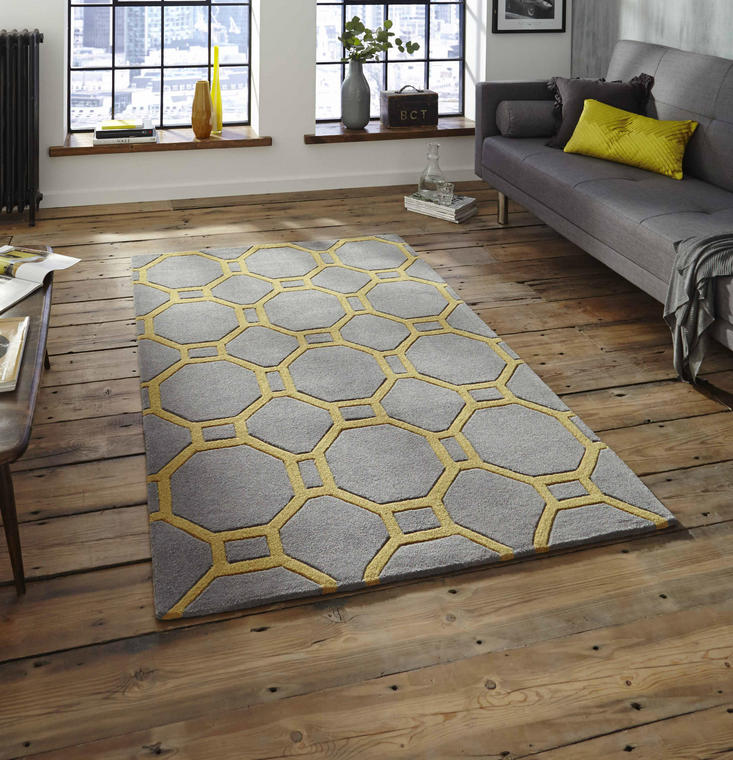 Nobel House 4338 Grey Yellow Rug
