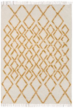 Hackney Kelims Diamond Yellow Rug