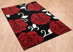 Couture Cou 01 Red Black Rug