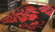 Decote Red and Black Rug