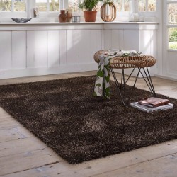 Cosy Glamour 0400 85 brown Gold Rug