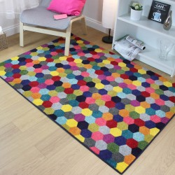 Radiant Art Hexagon Multi Rug