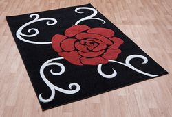Couture Cou 03 Red Black Rug