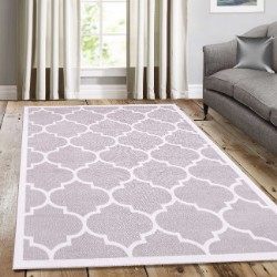 Trendy Silver with Border Rug