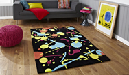Hong Kong Funky HK-459 Black-Multi Rug