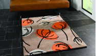 Infinite Fifties Floral Orange Rug