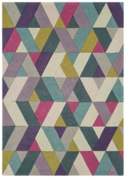 Funk Funk Chevron Blue Green Rug