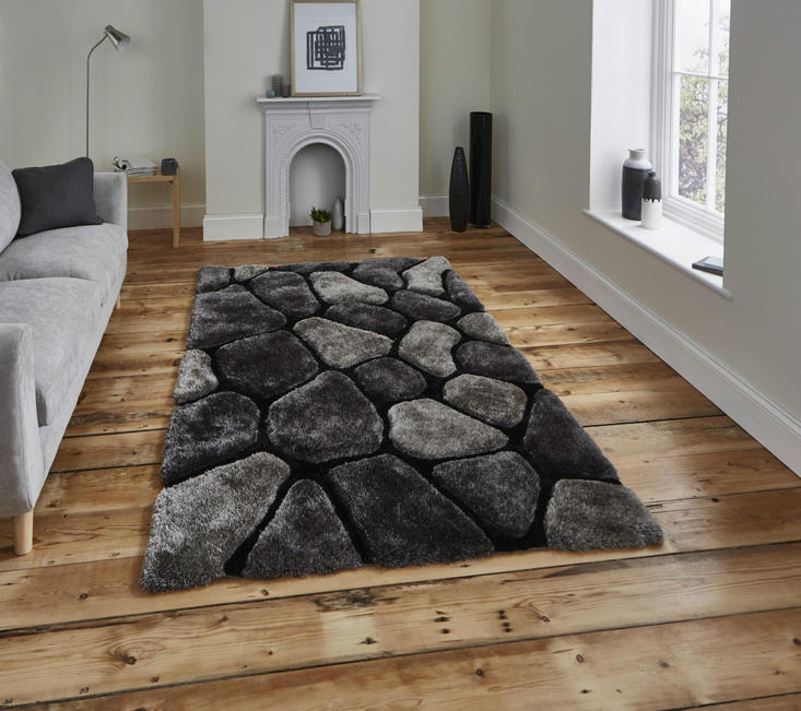 Nobel House Pebbles 5858 Black Grey Rug