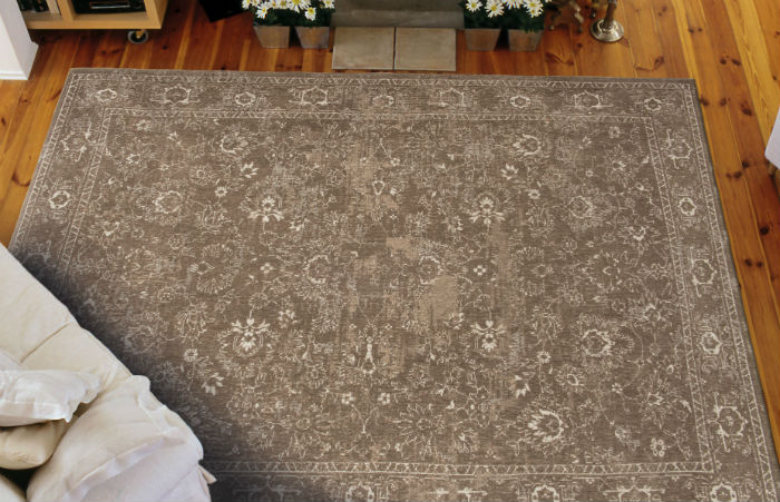 Bo Bohemian Flowers 8911 Bourges Brown Rug