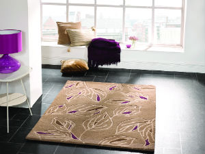 Wilderness Branches Taupe-Purple Rug
