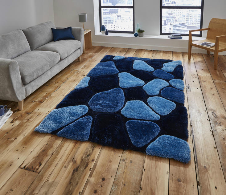 Nobel House Pebbles 5858 Blue Rug