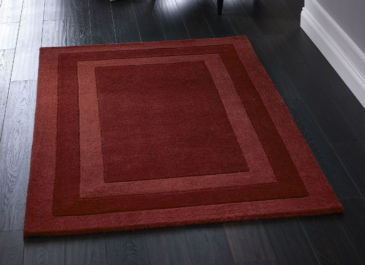 Clayton Boarder Red Rug