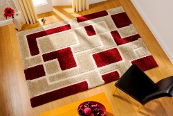 Venice Imperial Red Beige Rug
