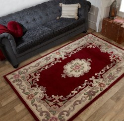 Lotus Aubusson Red Rug