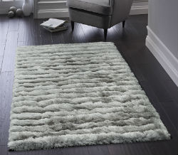 Carved Glamour Silver Rug