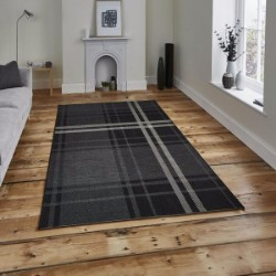 Breeze 6639 Black Grey Rug