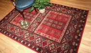 Afghan 5938-1201 Hatchlou Red Rug
