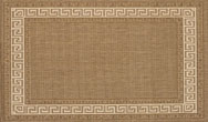 Greek Key Flatweave Natural Rug