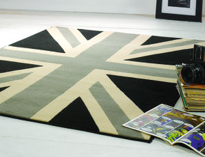 Buckingham Grey Cream Black Rug