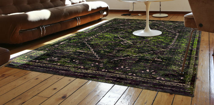 Silver Lining LDP Diamonds 8519 Douglas Green Rug