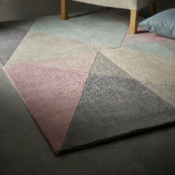 Design Matters Pink Grey Blue Rug