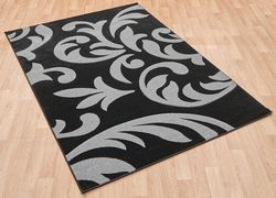 Couture Cou 08 Black Grey Rug