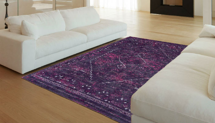 Silver Lining LDP Diamonds 8517 Pale Ruby Rug